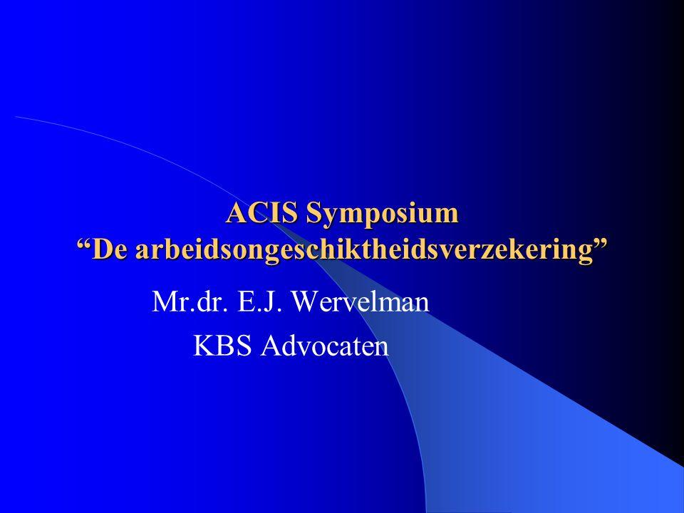 ACIS Symposium De arbeidsongeschiktheidsverzekering