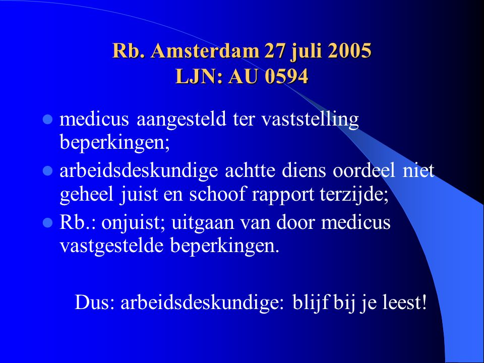 Rb. Amsterdam 27 juli 2005 LJN: AU 0594