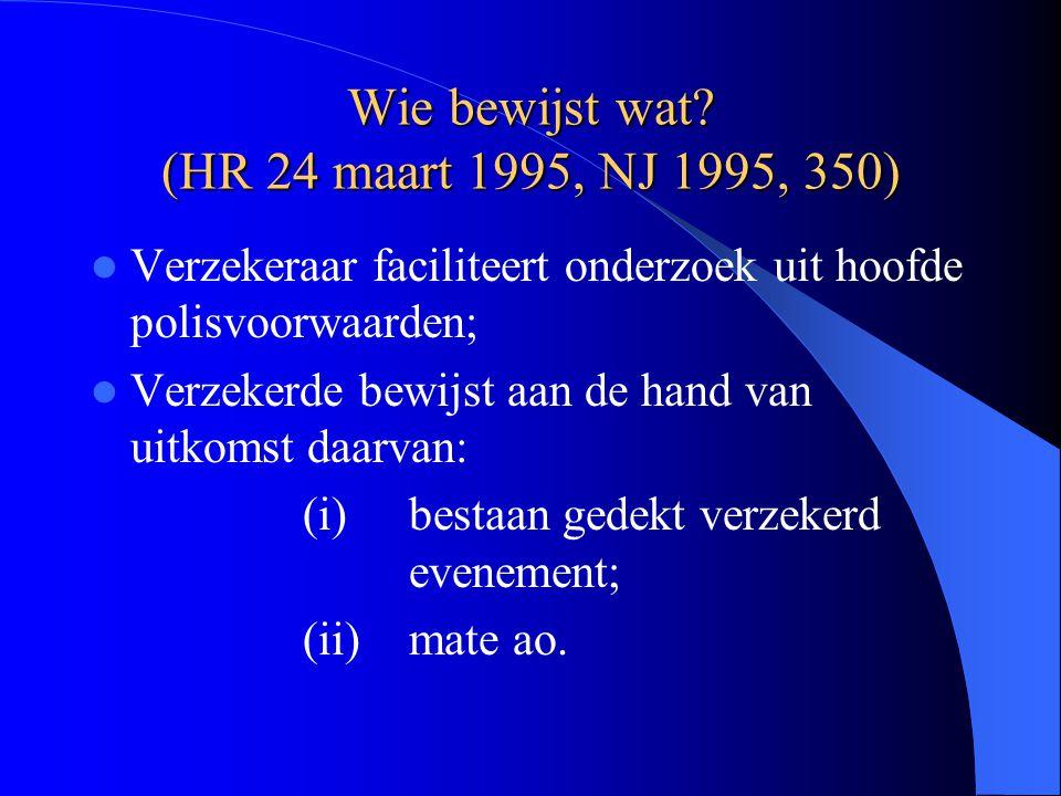 Wie bewijst wat (HR 24 maart 1995, NJ 1995, 350)
