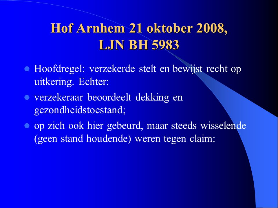Hof Arnhem 21 oktober 2008, LJN BH 5983