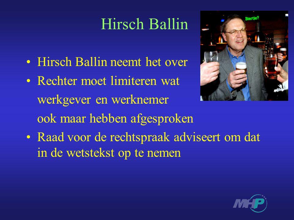 Hirsch Ballin Hirsch Ballin neemt het over Rechter moet limiteren wat