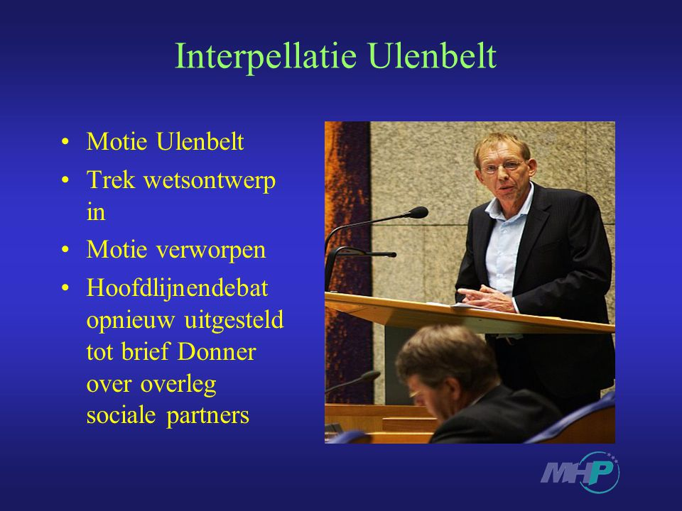 Interpellatie Ulenbelt