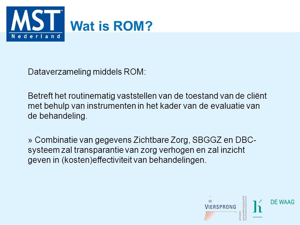 Wat is ROM Dataverzameling middels ROM: