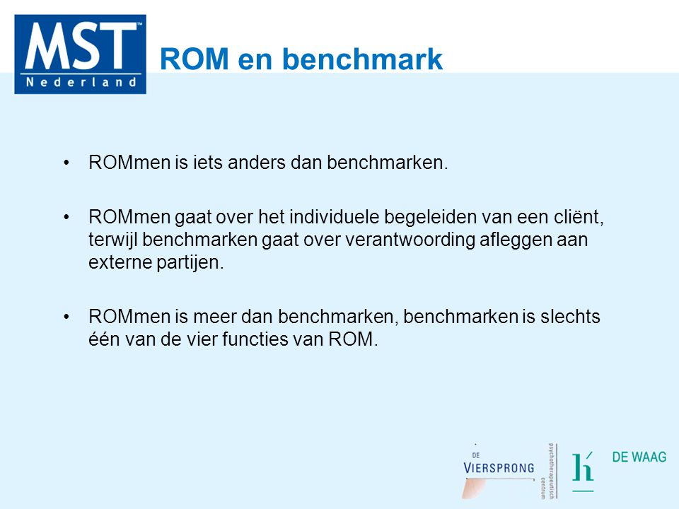 ROM en benchmark ROMmen is iets anders dan benchmarken.