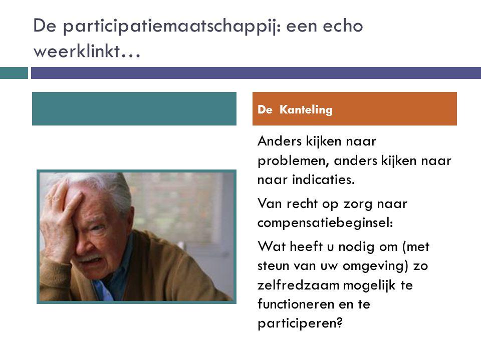 De participatiemaatschappij: een echo weerklinkt…