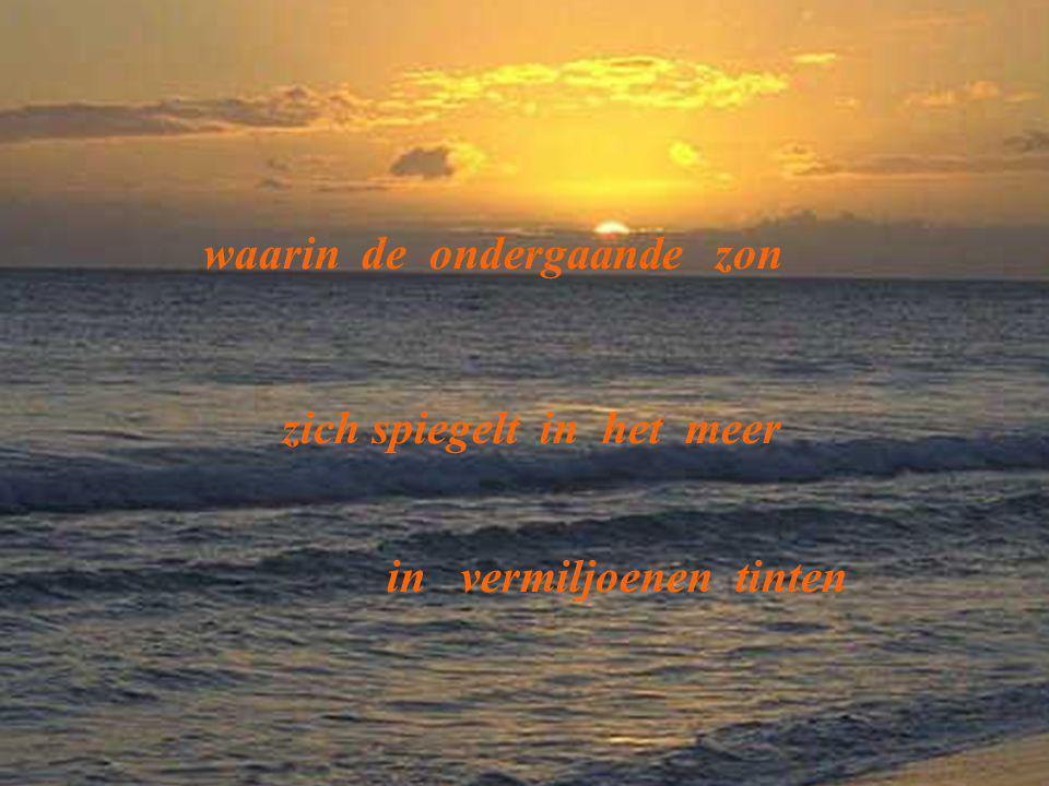 waarin de ondergaande zon