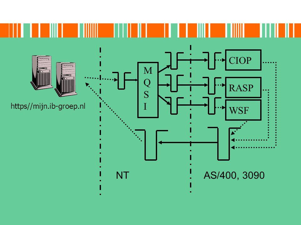 MQSI NT https//mijn.ib-groep.nl CIOP RASP WSF AS/400, 3090