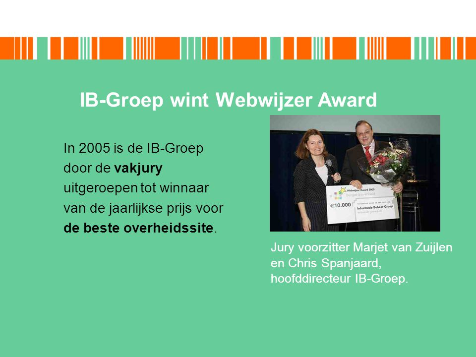 IB-Groep wint Webwijzer Award