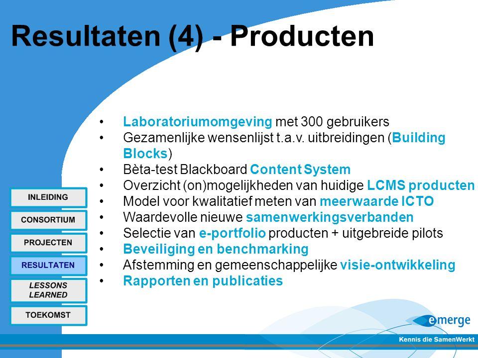 Resultaten (4) - Producten