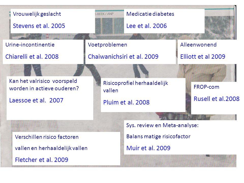 Stevens et al. 2005 Lee et al. 2006 Chiarelli et al. 2008
