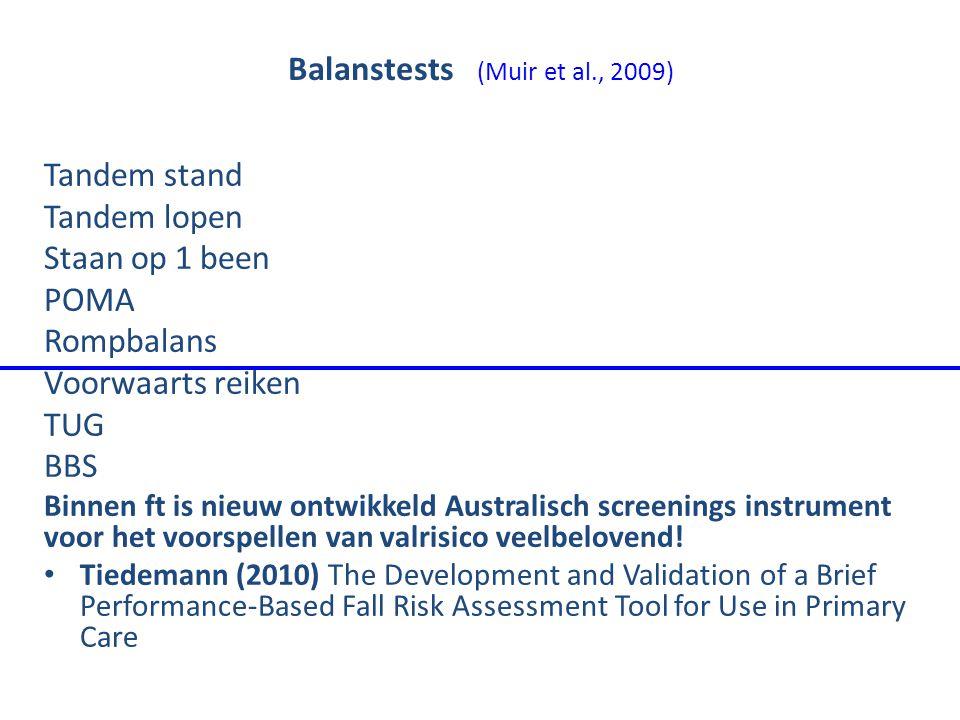 Balanstests (Muir et al., 2009)