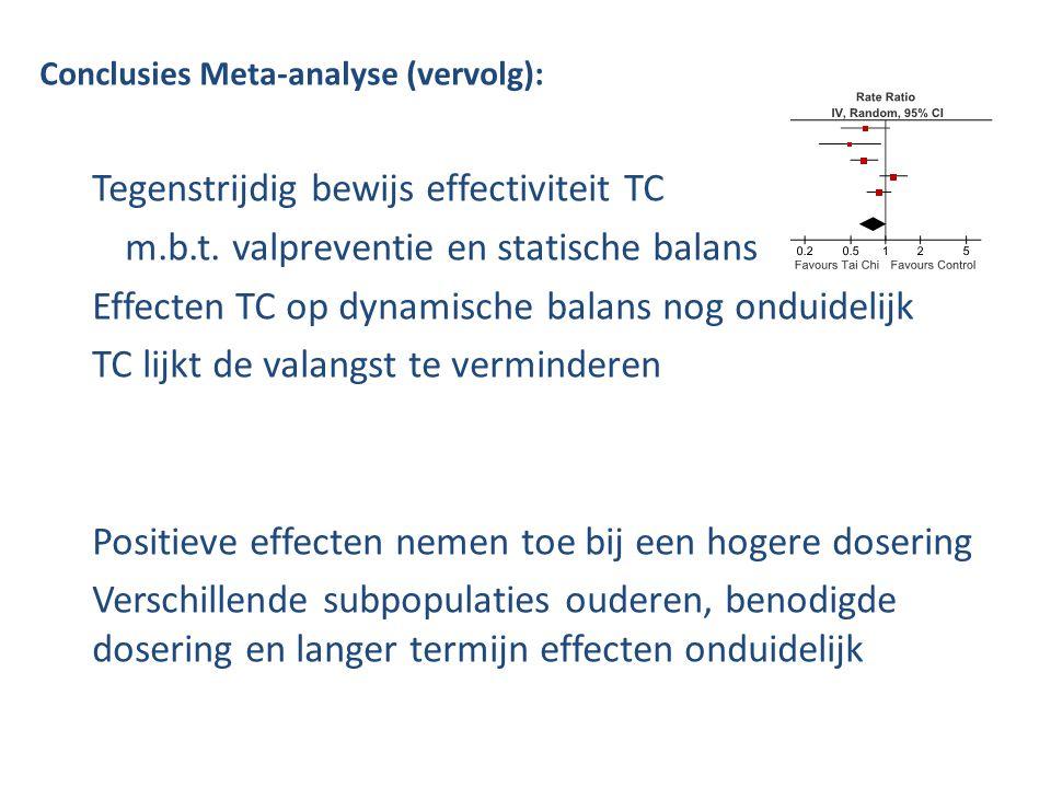 Tegenstrijdig bewijs effectiviteit TC