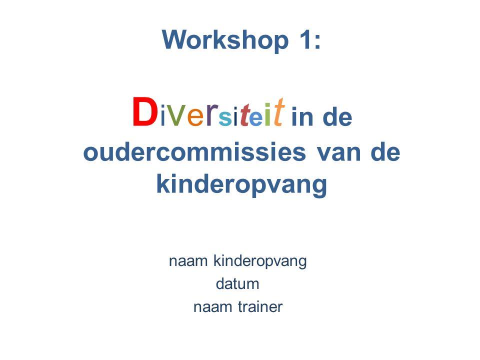 Workshop 1: Diversiteit in de oudercommissies van de kinderopvang
