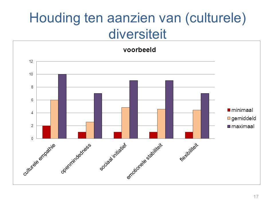 Houding ten aanzien van (culturele) diversiteit