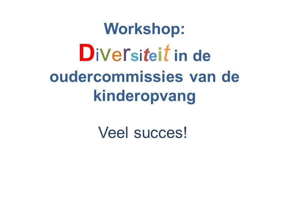Workshop: Diversiteit in de oudercommissies van de kinderopvang