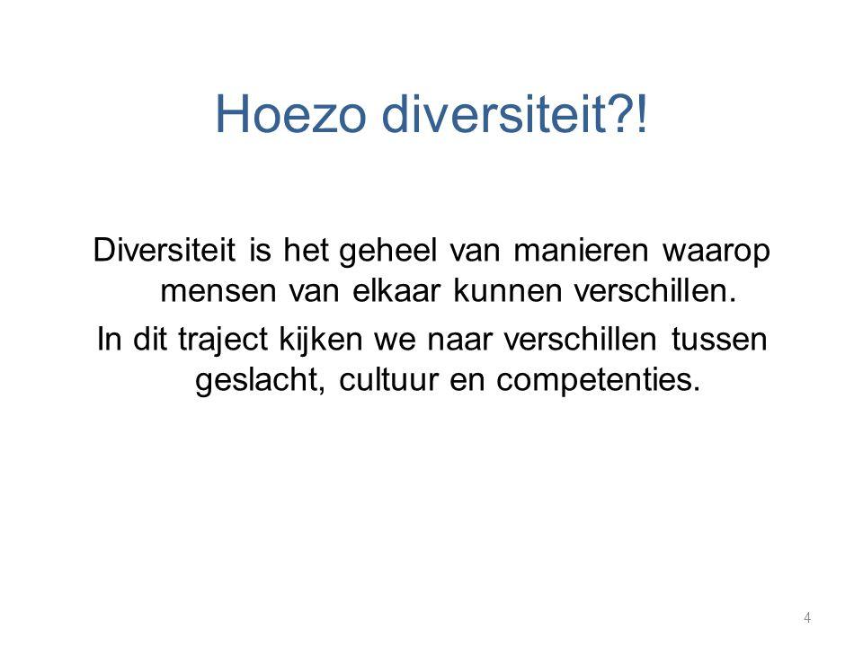 Hoezo diversiteit !