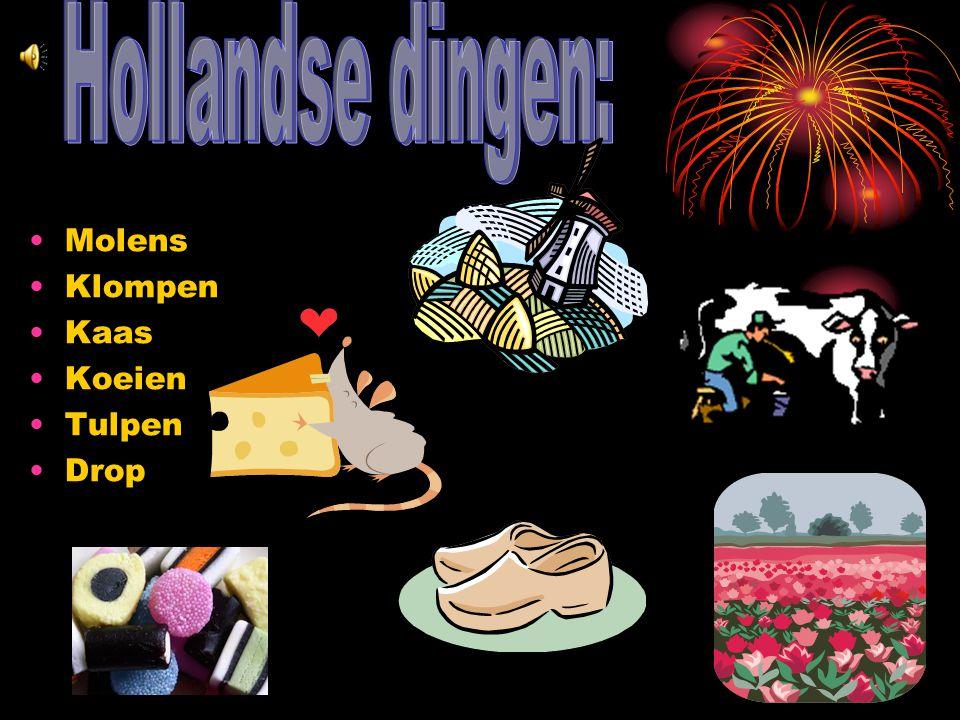 Hollandse dingen: Molens Klompen Kaas Koeien Tulpen Drop