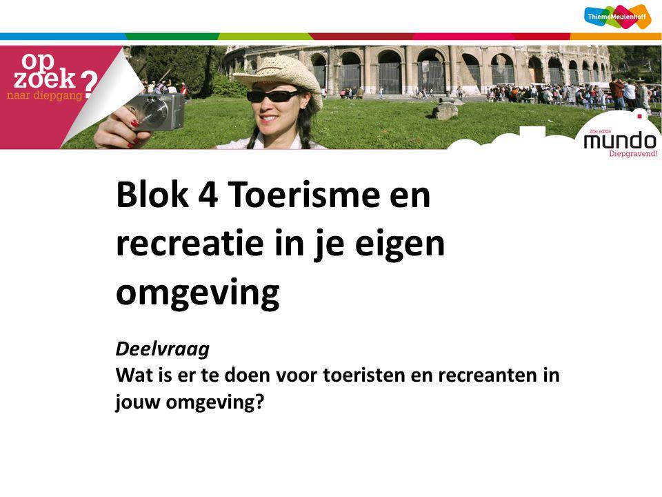 Blok 4 Toerisme en recreatie in je eigen omgeving