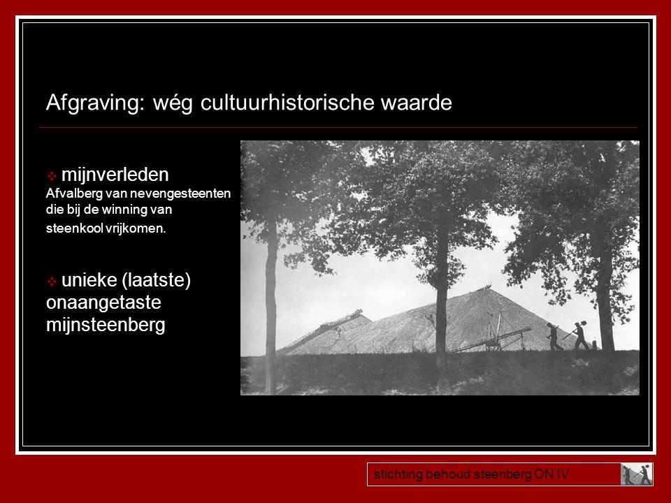Afgraving: wég cultuurhistorische waarde