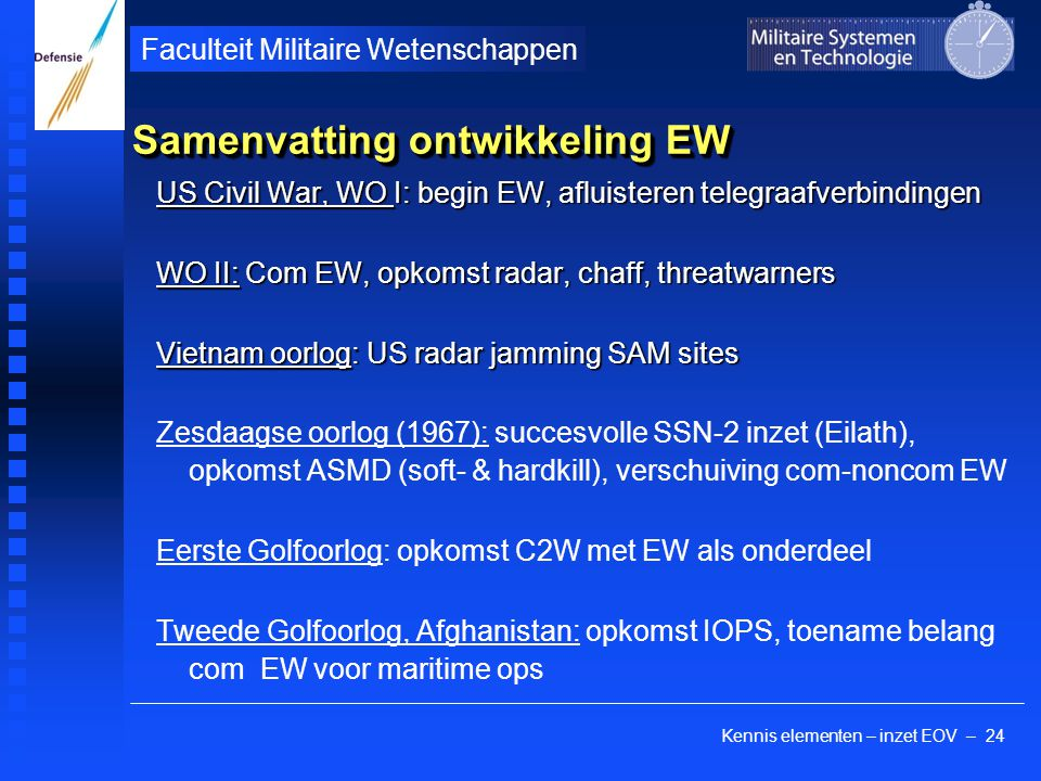 Samenvatting ontwikkeling EW