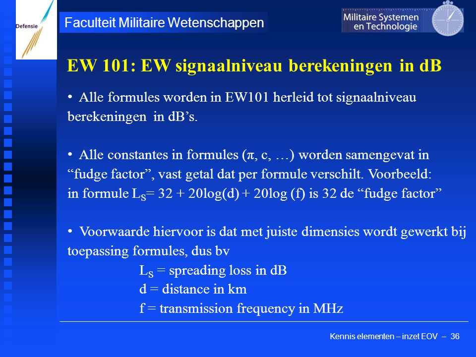 kennis elementen - Inzet EOV