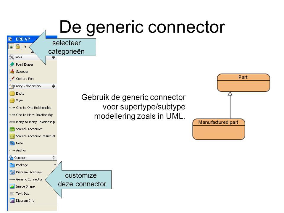 De generic connector Gebruik de generic connector