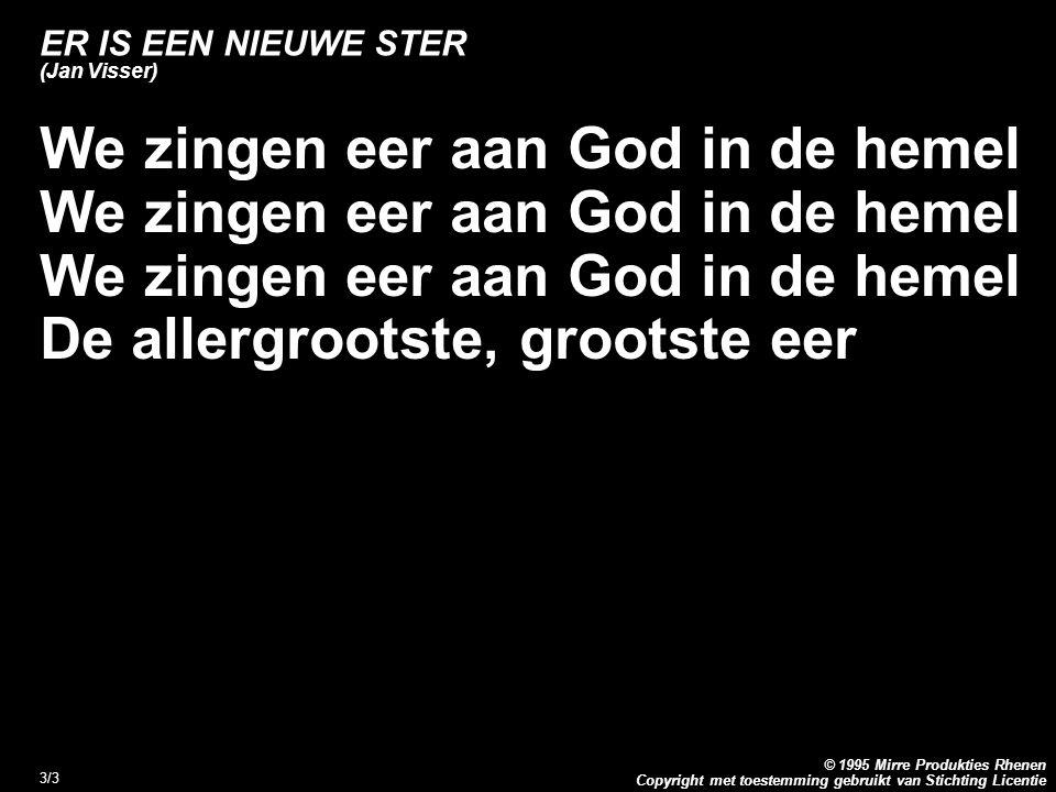 ER IS EEN NIEUWE STER (Jan Visser)