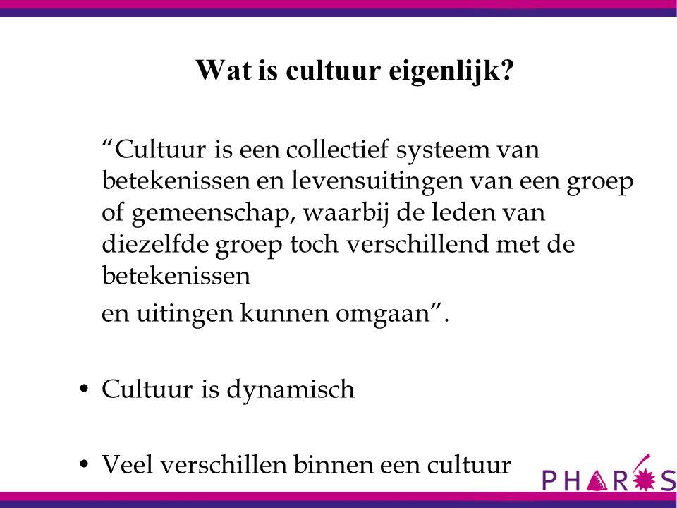 Wat is cultuur eigenlijk