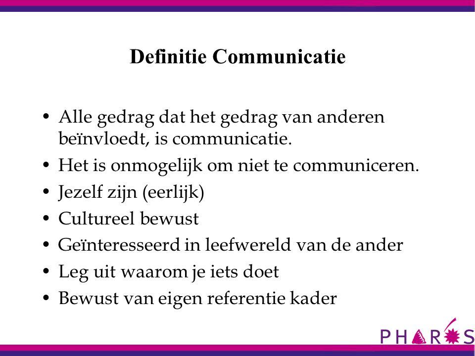 Definitie Communicatie