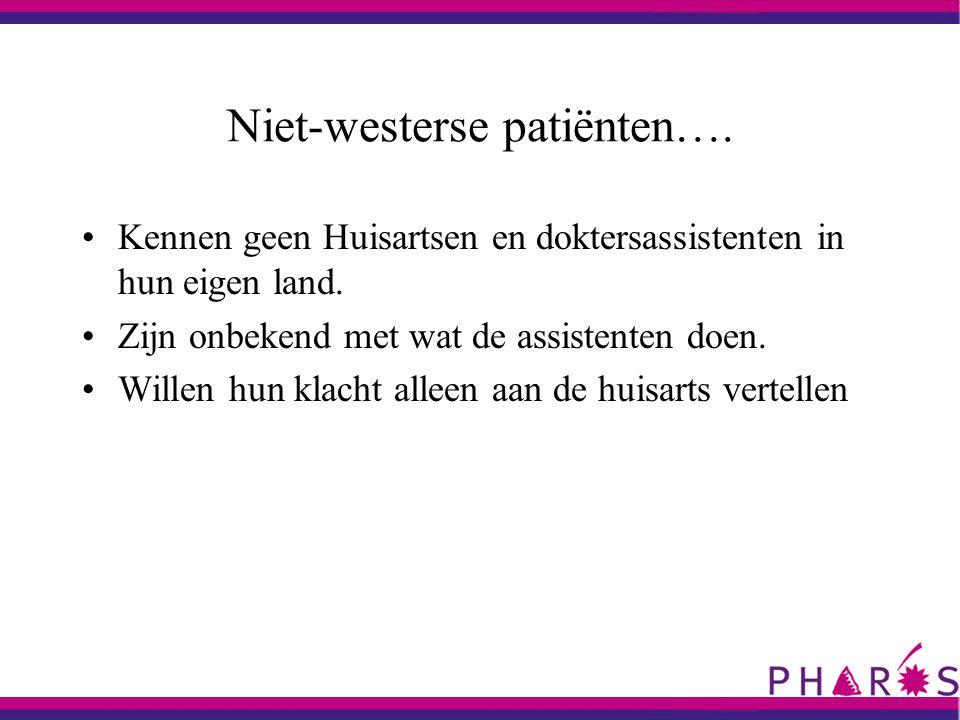Niet-westerse patiënten….