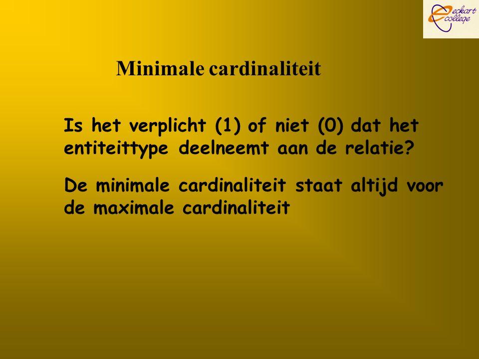 Minimale cardinaliteit