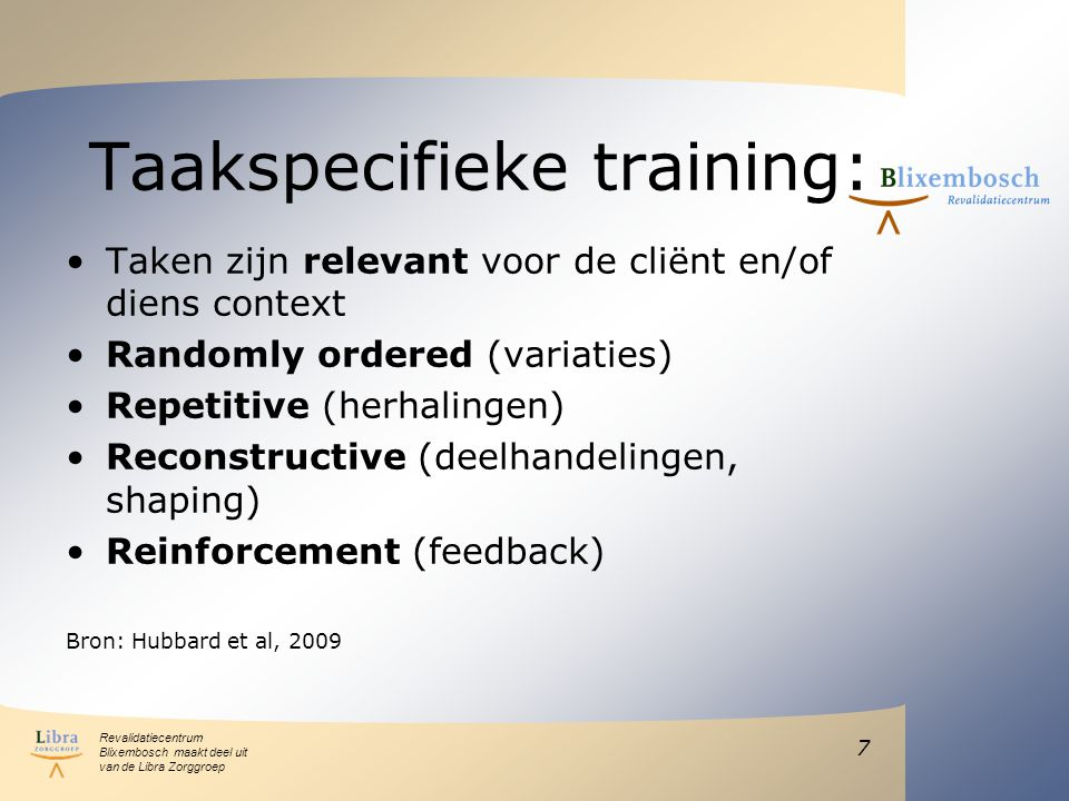 Taakspecifieke training: