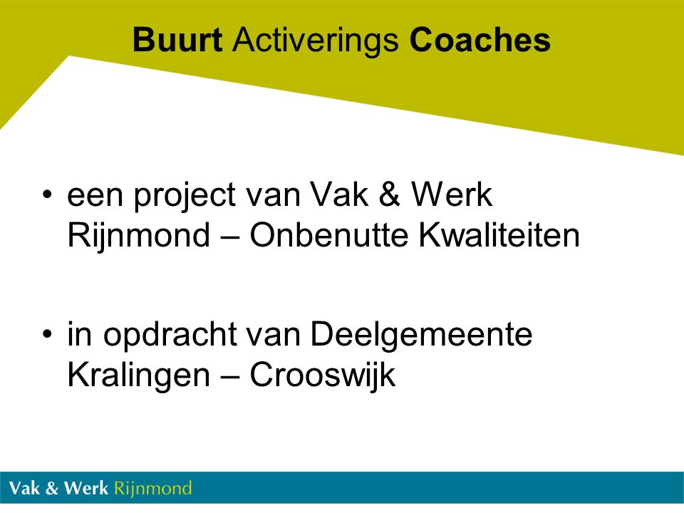 Buurt Activerings Coaches