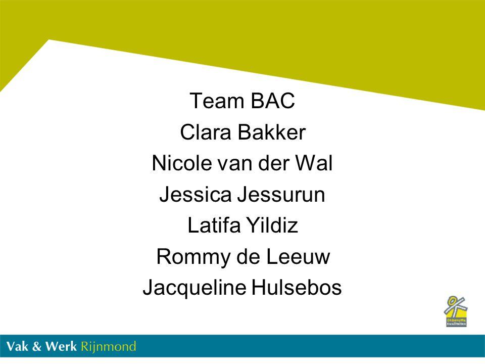Team BAC Clara Bakker. Nicole van der Wal. Jessica Jessurun.