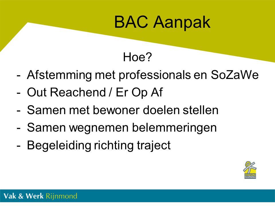 BAC Aanpak Hoe Afstemming met professionals en SoZaWe