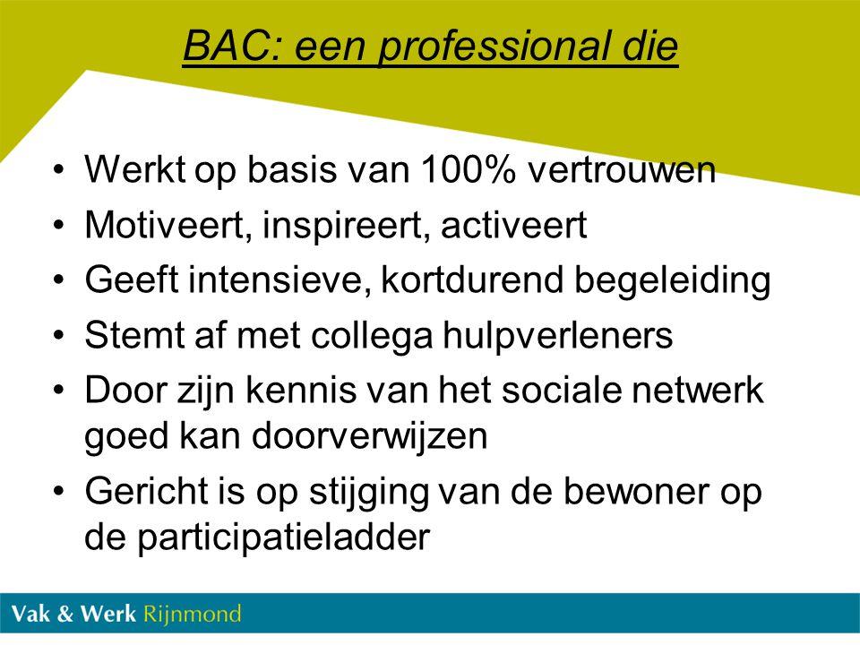 BAC: een professional die