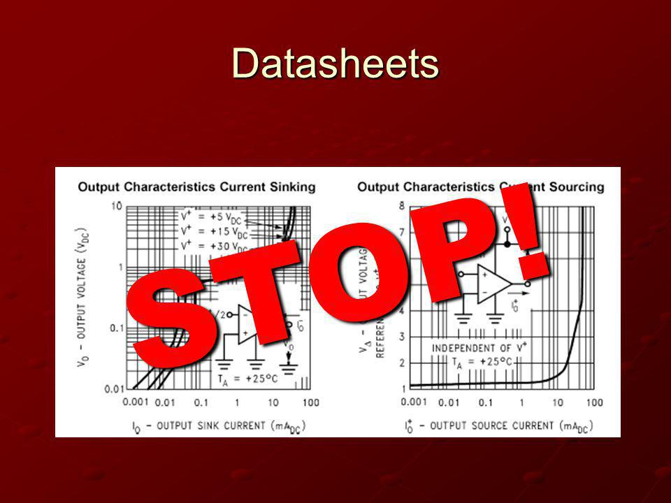 Datasheets STOP!
