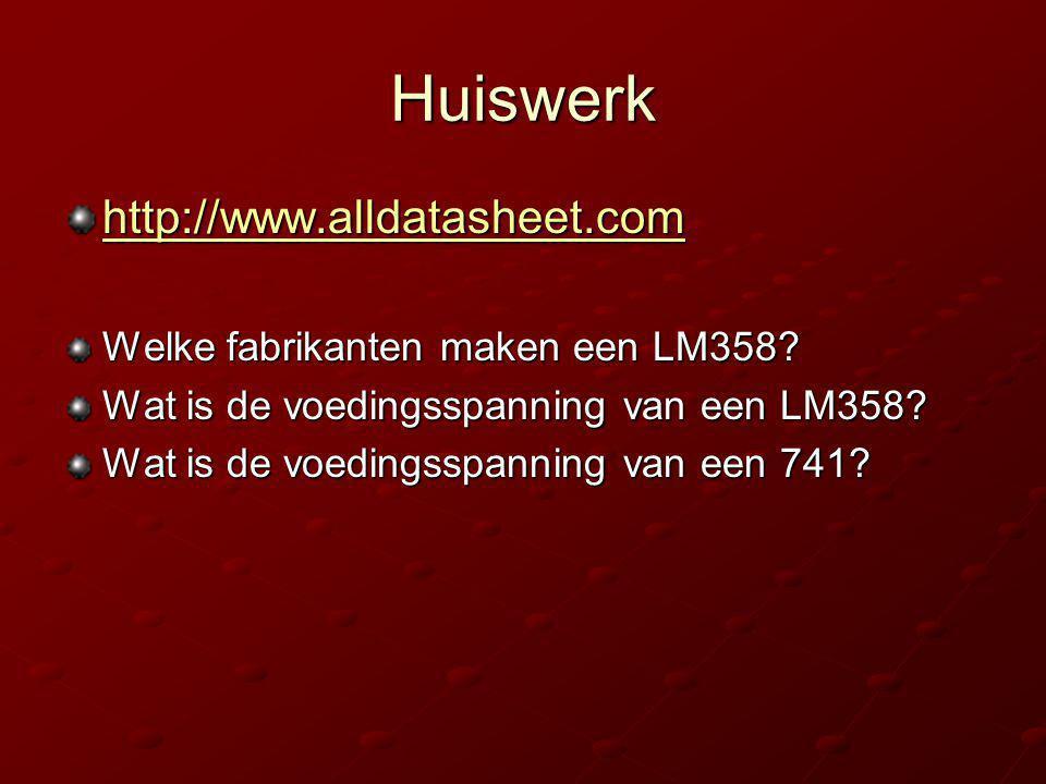 Huiswerk http://www.alldatasheet.com