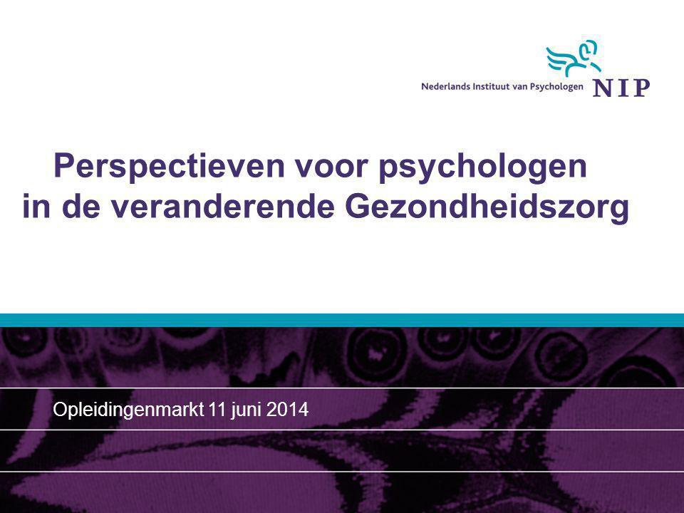 Perspectieven voor psychologen in de veranderende Gezondheidszorg