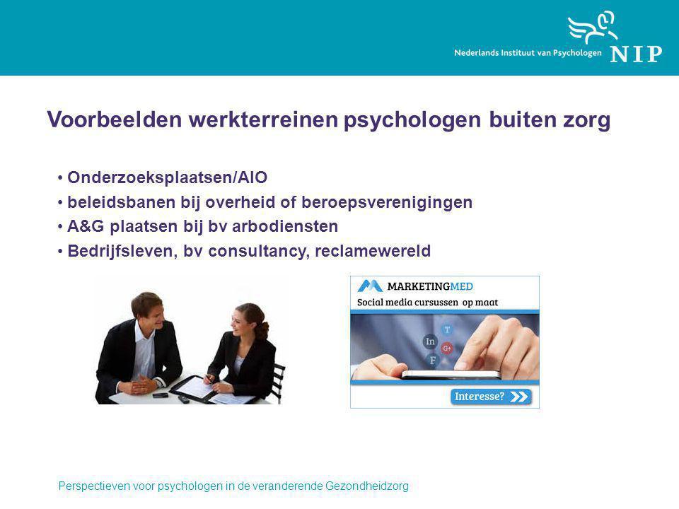 Voorbeelden werkterreinen psychologen buiten zorg
