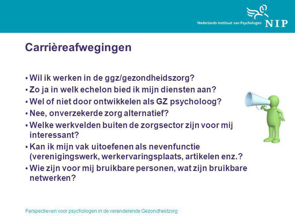 Carrièreafwegingen Wil ik werken in de ggz/gezondheidszorg