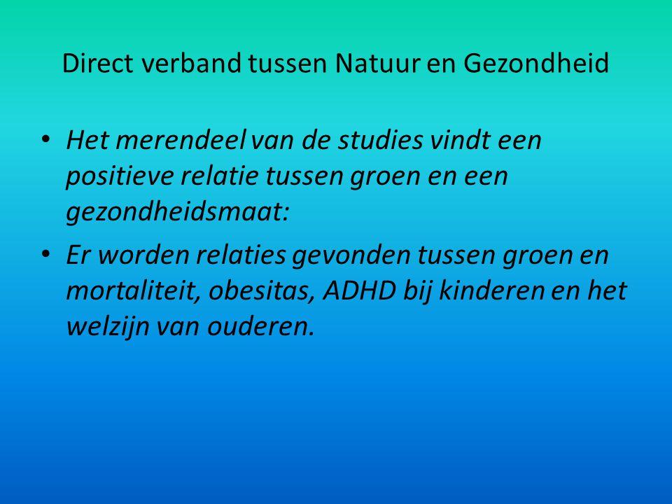 Direct verband tussen Natuur en Gezondheid