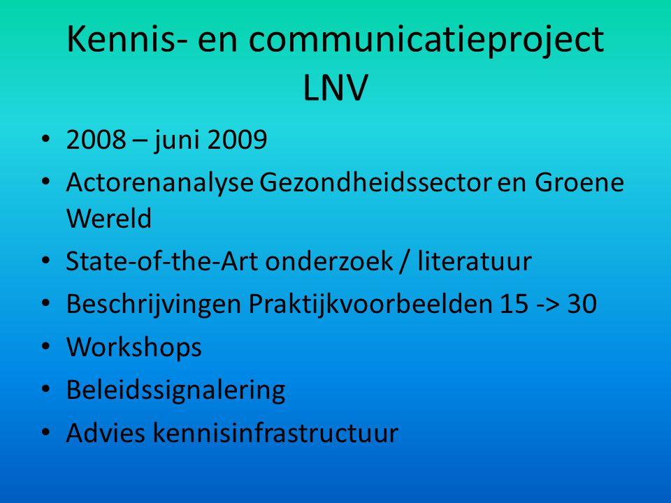 Kennis- en communicatieproject LNV