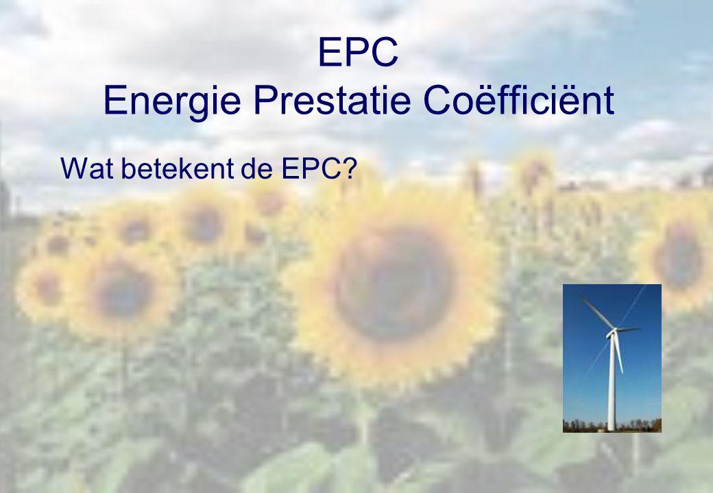 EPC Energie Prestatie Coëfficiënt