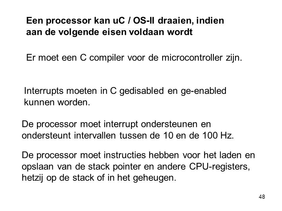 Er moet een C compiler voor de microcontroller zijn.