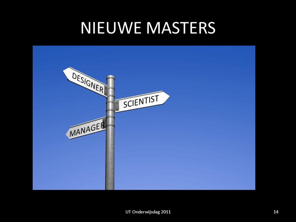 NIEUWE MASTERS DESIGNER SCIENTIST MANAGER
