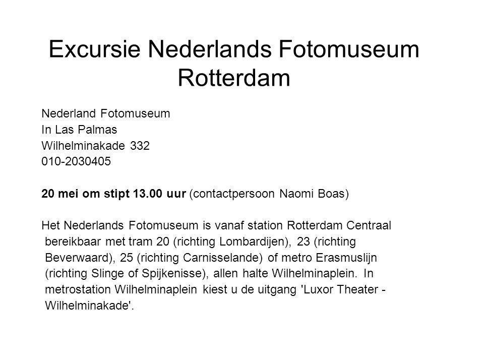 Excursie Nederlands Fotomuseum Rotterdam