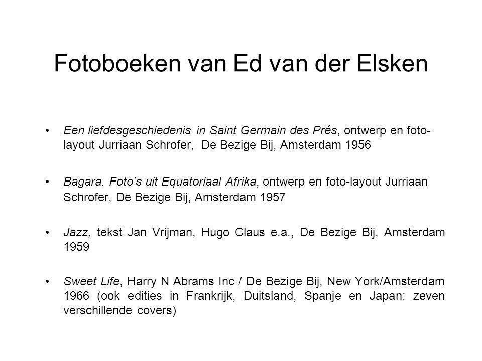 Fotoboeken van Ed van der Elsken