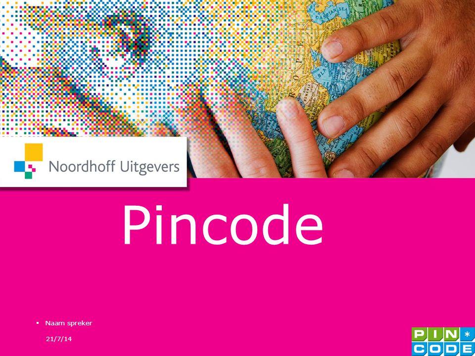 Pincode Naam spreker 4/4/17