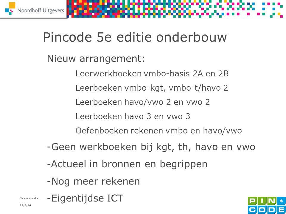 Pincode 5e editie onderbouw